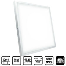 Pack 5 paneles LED techo 48W superficie 4320Lm oficina/tienda 60x60 LED26