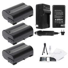 3x EN-EL15 Battery + Charger for Nikon D7000 D600 D800 D800E  1 V1