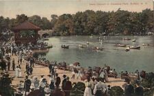 Postcard Band Concert in Delaware Park Buffalo NY 1909