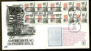 U.S. FDC #1896e Booklet Pane of 10 With Cover Artcraft cachet New York, NY Flag