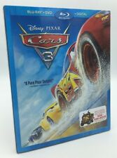 Cars 3 (Blu-ray+DVD+Digital, 2017; 2-Disc Set) NEW w/ Slipcover.