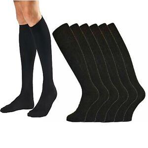 New Mens Gents Long Hose 100% Cotton Ribbed Comfy Grip Knee High Socks UK 6-11