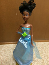 Barbie Doll Disney Princess Tiana Just One Kiss Talk Light AA African American