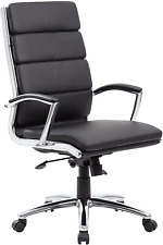 Boss Office Products Caressoftplus Executive Chair Traditional Metal Chrome Fi
