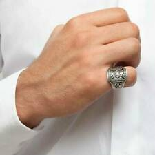 Turkish 925 Sterling Silver Handmade Jewelry Special Motif Men's Ring   #TR
