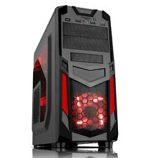 iTeK Case INVADER R03 Gaming Middle Tower USB3 12cm red fan kit Trasp Card Reade