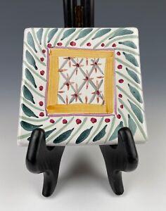 Mackenzie-Childs Coaster Tile Brighton Pavillon 4x4 Excellent Condition!!