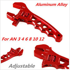 Red Adjustable Aluminum Alloy Wrench Fitting Tools Oil Spanner AN 3 4 6 8 10 12