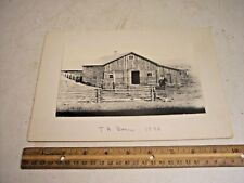 Original Old Photograph T. A. Barn 1892 ~ Johnson County Wyoming