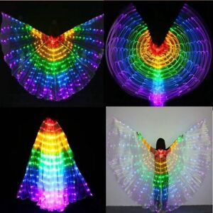 Egypt LED Isis   Belly Dancing Dance Costume Light up Wing 360 Degree