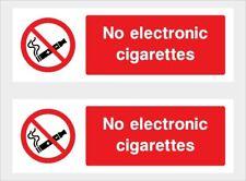 No E-CIg Sticker x2 car,taxi,minibus,lorry,Van,Cafe,Restaurant,etc