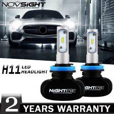 NIGHTEYE 2pcs H11 H8 H9 Car Driving 50W 8000LM LED White Headlight Bulbs 6500K
