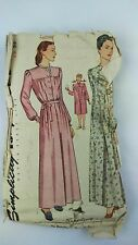 Vintage Simplicity Night Gown Pattern 1402 1940s Sz 16 Sewing Pattern