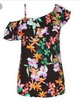 City Chic Floral Top Plus Size M