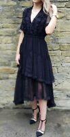 NEW WITH TAGS The Kooples Beautiful Black Silk Dress RRP 290 EURO