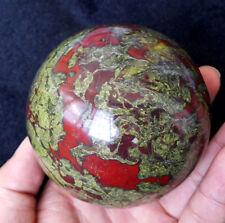 TOP 882 g 82mm Natural Dragon Blood Stone Jasper Crystal Ball E30