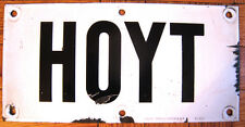 Vintage New York Subway Station Train Porcelain Sign Hoyt Street Brooklyn Nelke