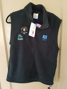 "MARKER S BLACK fleece ski vest  ""SALT LAKE 2002"" OLYMPICS . Made in USA"