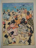 Unique Original Dessin Aquarelle 1905 Raymond de la Nezière signé superbe état