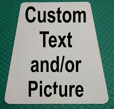 """Personalized 3.5"""" x 2"""" Aluminum Business Card Sign Customize with Text / Picture"""