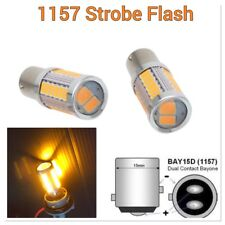 Amber Strobe Rear Turn Signal Light 1157 BAY15D P21/5W 33 LED Bulb #12 B1