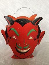 Vintage/Antique Halloween Devil Jack O Lantern