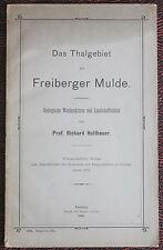 Holtheuer Das Thalgebiet der Freiberger Mulde. Geologische Wanderskizzen 1901 xz