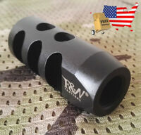 1/2x28 TPI All Steel F&N Tactical Muzzle Brake w/ Crush Washer-VODO