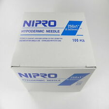 "Nipro 25G x 1  "" Hypodermic Needle(0.5x25mm) Sterile Single Needle 100 /Box"