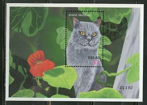 PALAU SCOTT# 680,682 WONDERFUL WORLD OF PETS CATS SHEET & SOUVENIR SHEET MINT NH