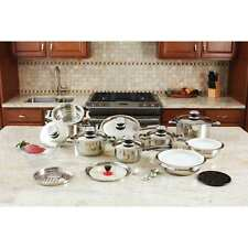 28 peace 12-Element High Quality Heavy- Gauge Stainless Steel Cookware Set