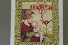 Mary Engelbreit Art Matted Picture 11x14 Mother Baby Child Sleeping Nursery Wall