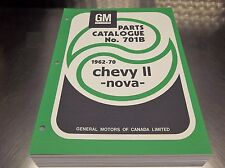 62-1970 CHEVY II NOVA MASTER PARTS CATALOG July 70 print