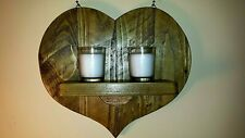 RUSTIC RECLAIMED  WOOD WALL SCONCE / CANDLE  HOLDER./ VALENTINES / MOTHERS DAY