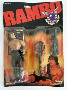 NEW Rambo Force of Freedom Vintage 1986 NIB Action Figure Coleco Stallone NRFB
