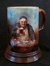 Antique J.P. Limoges hand painted beer stein bierkrug  0.5 L.