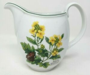 Royal Worcester Herbs 1.25 Pint Water Or Custard Jug Black Mustard Wild Thyme