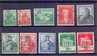 Bizone 1949 - 4 Ausgaben aus MiNr. 101/110 rund gestemp.- Michel 101,00 € (251)
