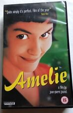 French rom com Amelie, VHS video film, in French, with subtitles