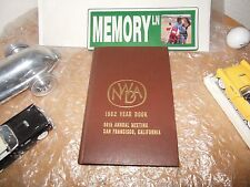 ORIGINAL 1962 NATIONAL WHOLESALE DRUGGISTS ASSOC YEARBOOK/SAN FRANCISCO, CALIF