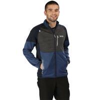 Regatta Mens Yare II Fleece Jacket Top Black Blue Sports Outdoors Full Zip