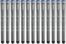 Winn DRI-TAC Dark Gray Midsize (+1/16) Golf Grips - Set of 13 - New