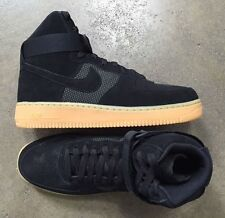 Nike Air Force 1 High LV8 Black Gum Light Brown size 12 (# 806403-003)