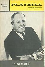 1965 Playbill GENERATION Henry Fonda Sandy Baron Richard Jordan Holly Turner