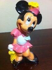 Vintage Minnie Mouse Ceramic Figurine Disney Pink Piggy Bank Girl Retro Nursery