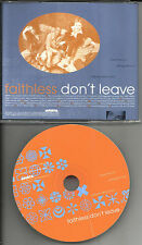 FAITHLESS Don't Leave 2 RARE REMIXES PROMO Radio DJ CD Single 1997 ascd3394