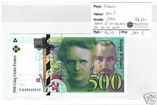 FRANCE 500 FRANCS PIERRE ET MARIE CURIE 1994 NEUF N° 1 !!!!!!