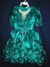 DRESS PAGEANT FLOWER GIRL DRESSES SIZE 10  DRESS NWT GREEN SILK FEEL TIP TOP KID