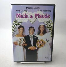 Micki & Maude (DVD, 2003) 1984 Movie Dudley Moore Amy Irving Ann Reinking RARE