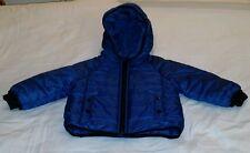babyGap 12-18M Primaloft Blue Nylon Winter Puffer Jacket Coat Hood Snow